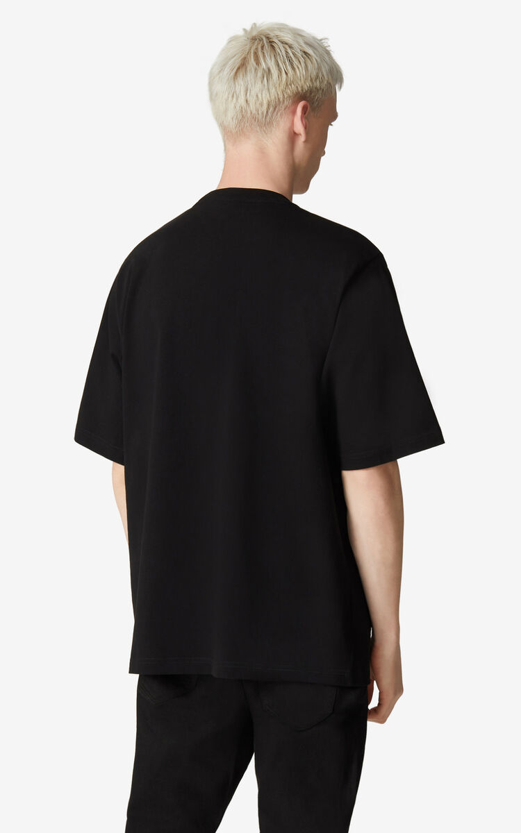 BLACK K-Tiger oversized T-shirt for men KENZO