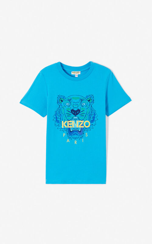 DEEP SEA BLUE Tiger T-shirt for men KENZO