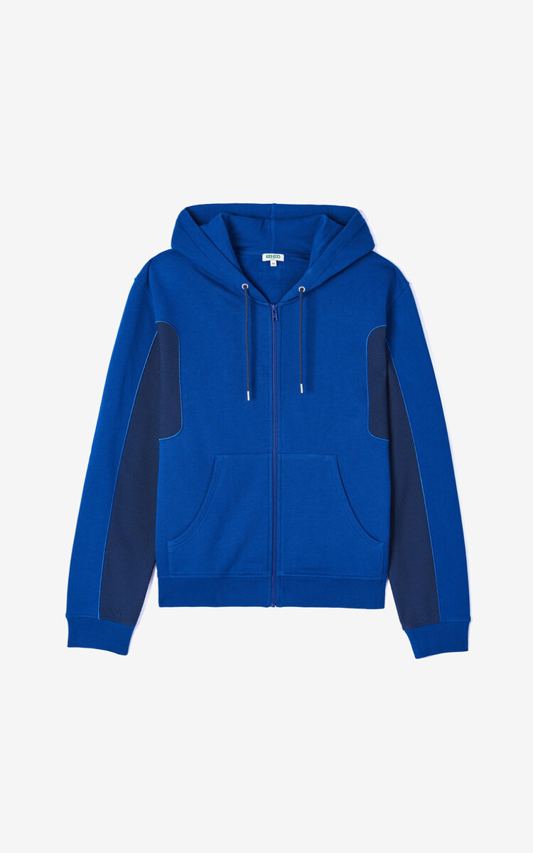 NAVY BLUE Dual-material jacket for men KENZO