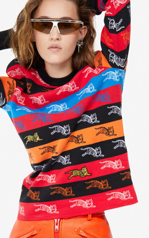 MULTICOLOR 'Jumping Tiger' jacquard jumper for women KENZO