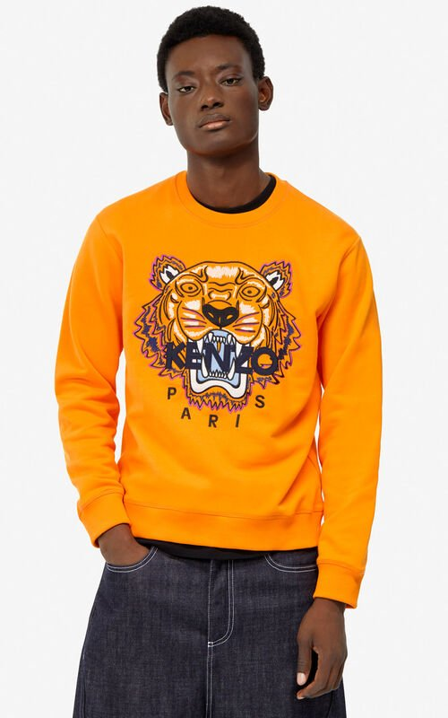 MEDIUM ORANGE Tiger sweatshirt for men KENZO ... e9dc38748c6f