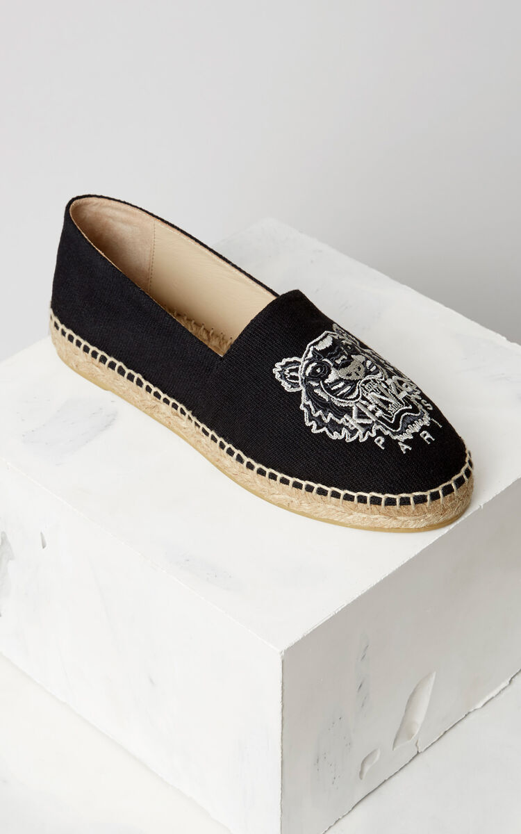 BLACK Tiger Espadrilles for women KENZO
