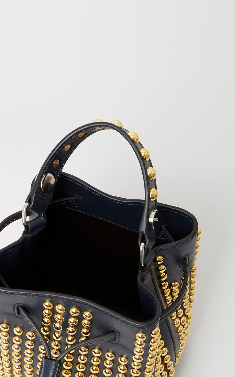 6808dabcef MIDNIGHT BLUE Studded Mini Bike Bucket Bag for women KENZO