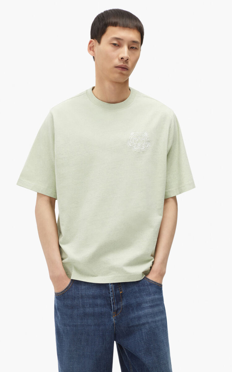 ALMOND GREEN RE/KENZO relaxed casual T-shirt for women