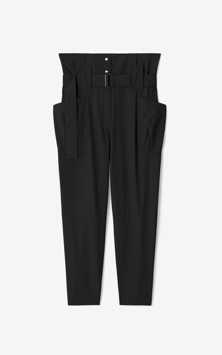 BLACK Cropped paper bag trousers for men KENZO