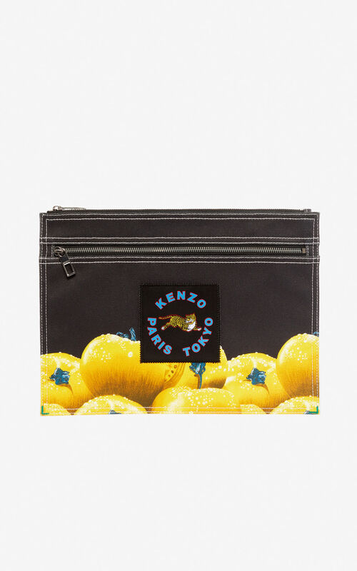 BLACK XL 'Tomato' clutch bag for unisex KENZO