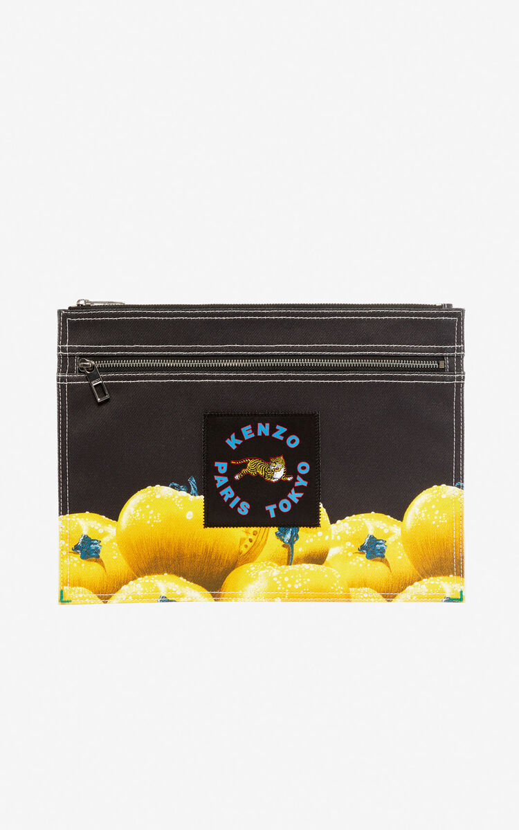 BLACK XL 'Tomato' clutch bag for women KENZO