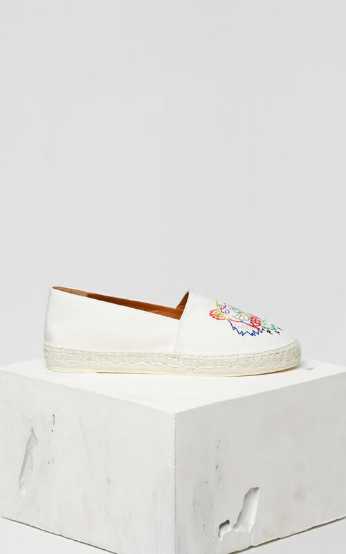 WHITE 'High Summer Capsule Collection' Tiger Espadrilles for women KENZO