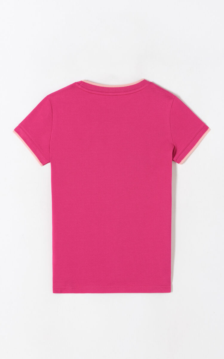 DEEP FUSCHIA Tiger crest t-shirt for women KENZO