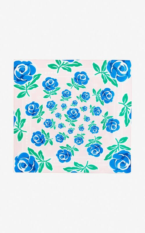 PASTEL PINK 'Roses' scarf for unisex KENZO