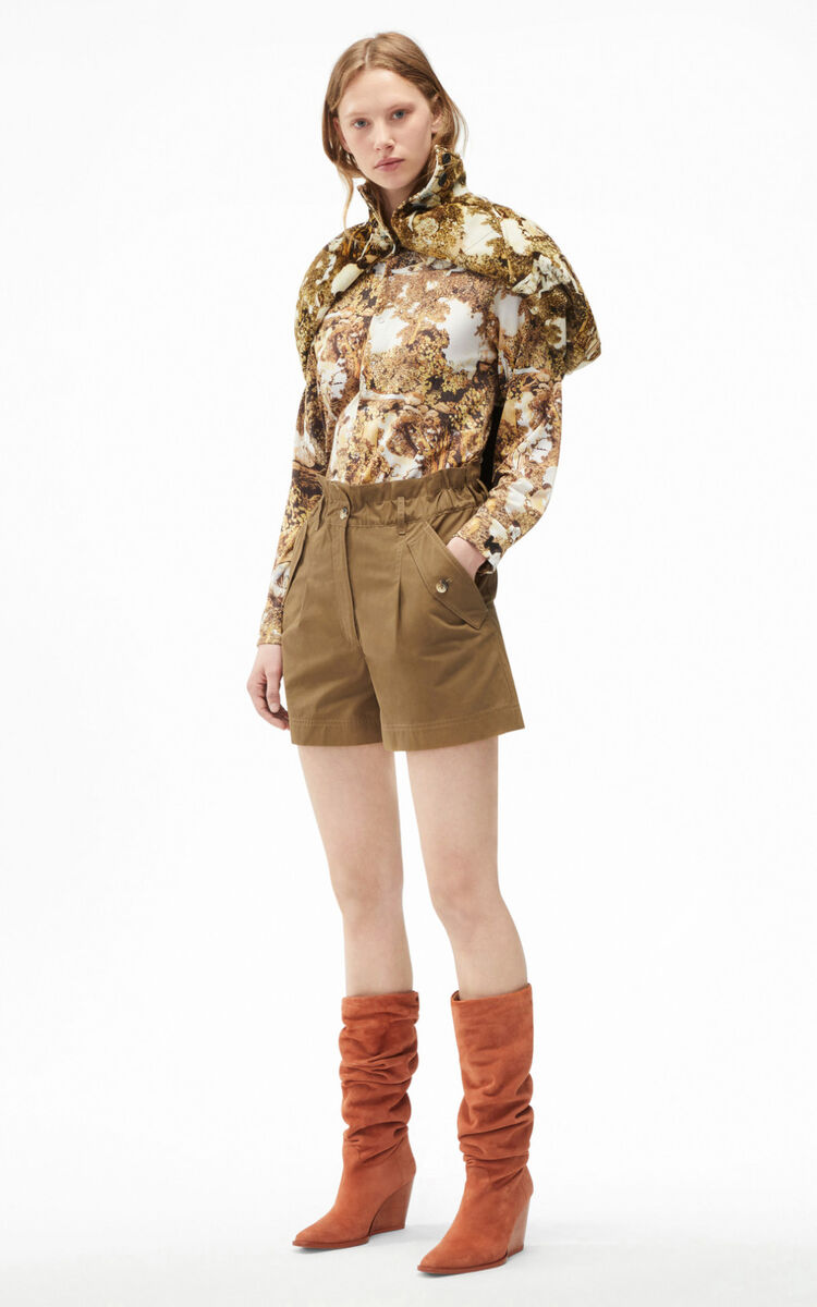 TAUPE High-waisted shorts for women KENZO
