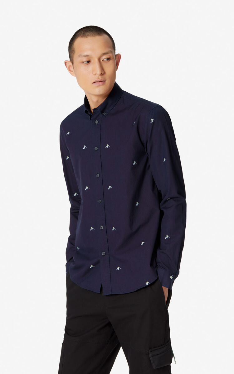 MIDNIGHT BLUE 'Mountains' casual shirt for women KENZO