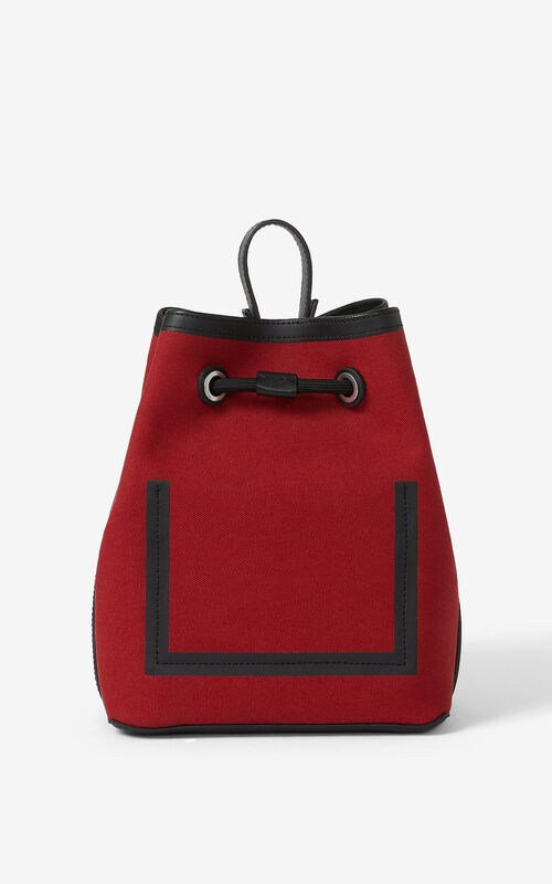 CHERRY Kanvas bucket bag for unisex KENZO