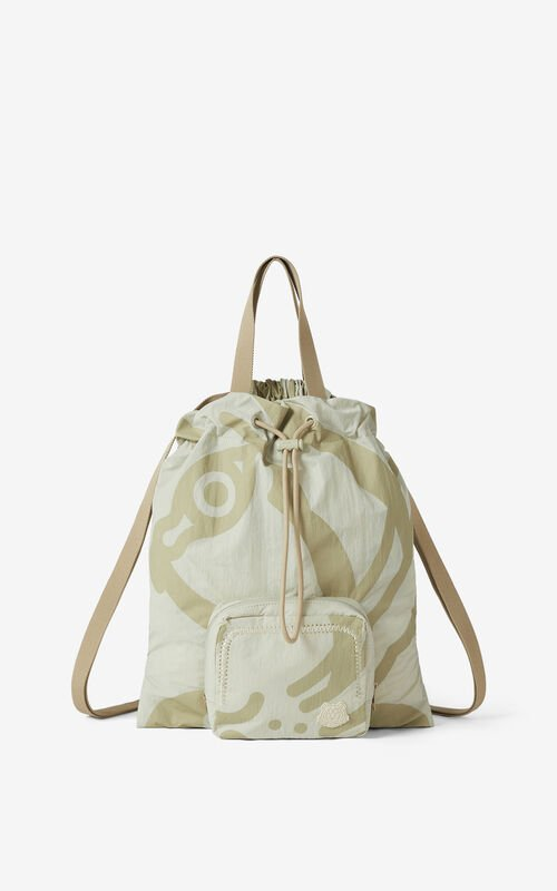 TAN K-Tiger foldable backpack for unisex KENZO