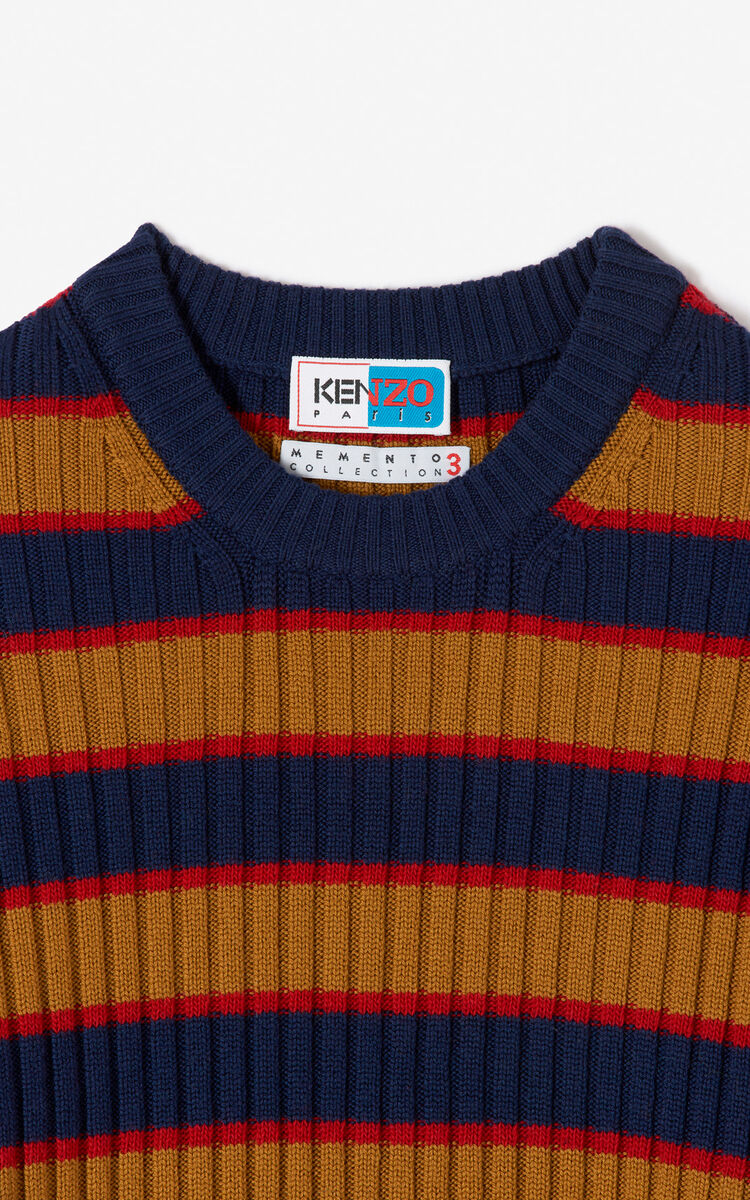 MULTICOLOR Colorblock striped long-sleeved jumper for men KENZO