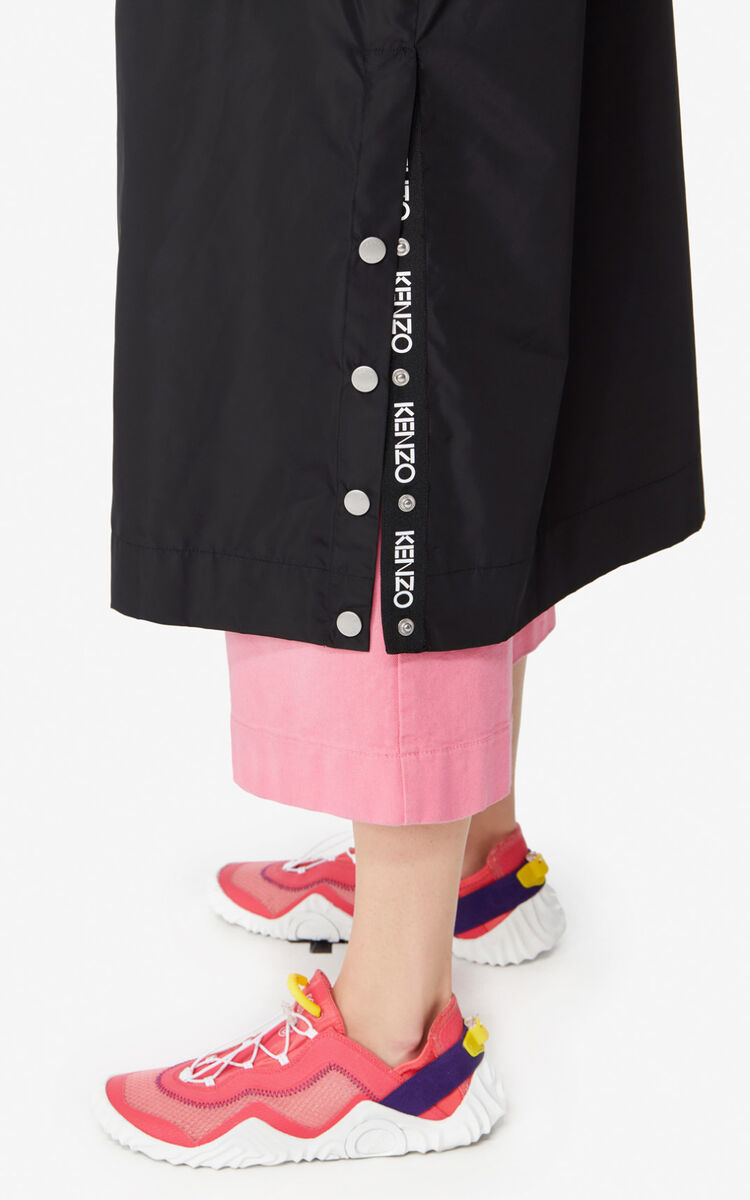 BLACK Long parka  for women KENZO