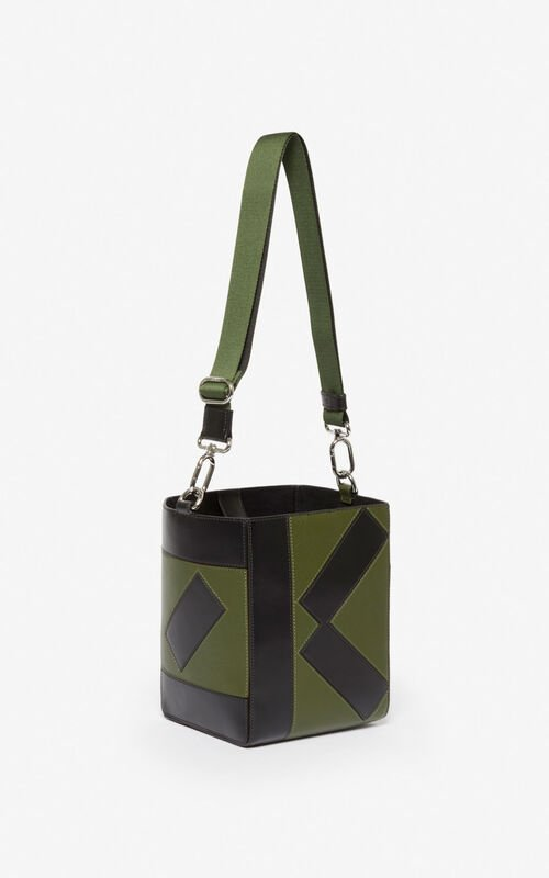 DARK KHAKI Kube Small Tote Bag for unisex KENZO