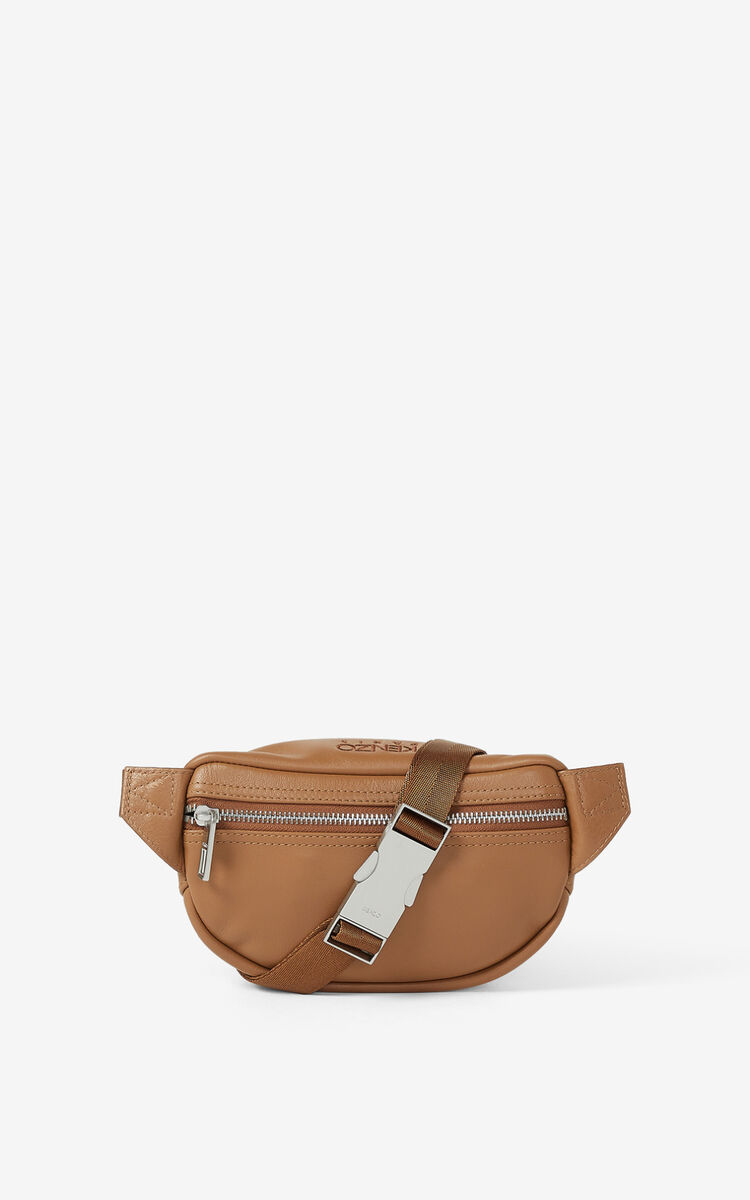 TABAC Kampus Tiger grained leather bumbag for unisex KENZO