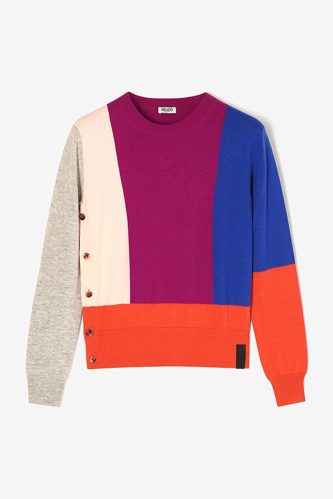 DEEP FUSCHIA Colourblock Sweater for women KENZO