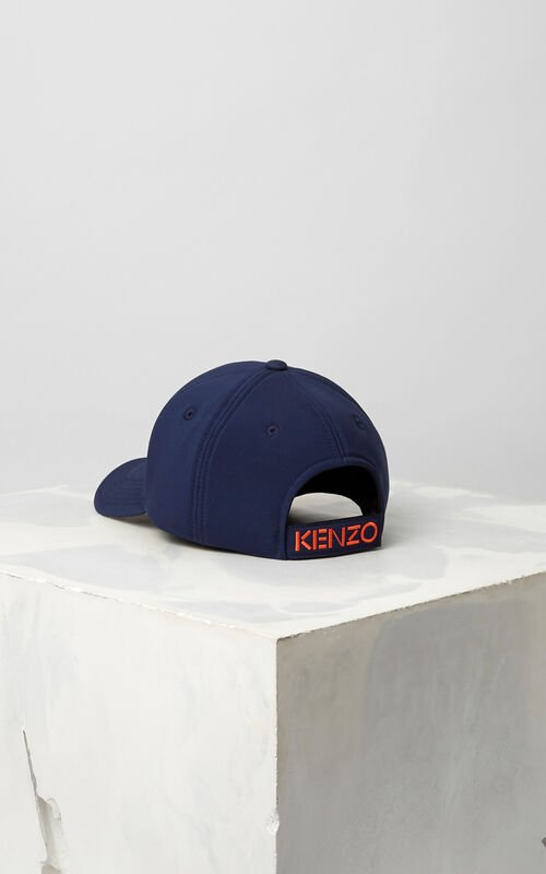 NAVY BLUE Neoprene Tiger cap for unisex KENZO
