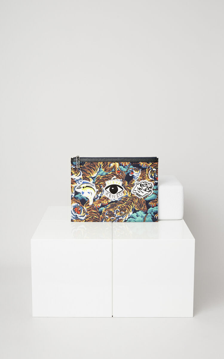 MULTICOLOR Multi Icons Clutch for unisex KENZO