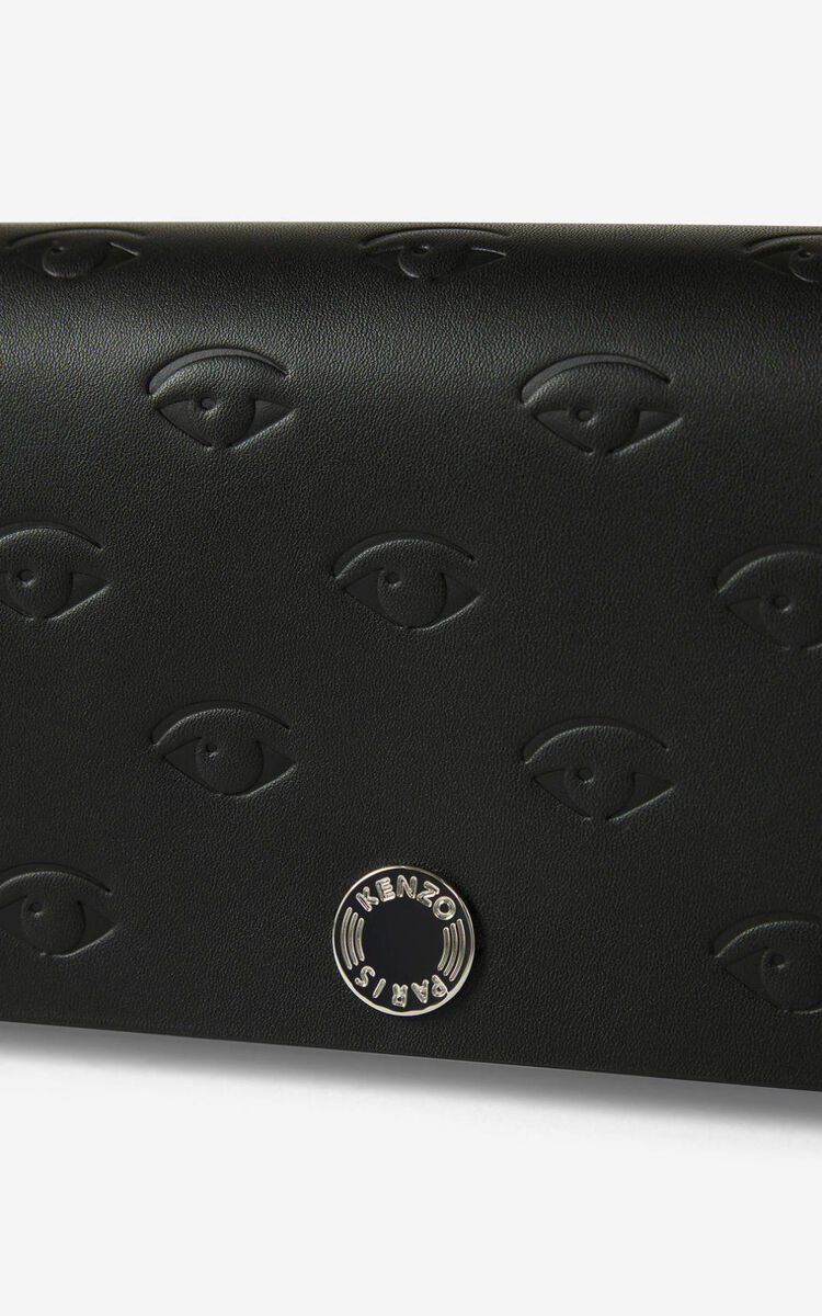 BLACK Blink Eye wallet on chain for unisex KENZO