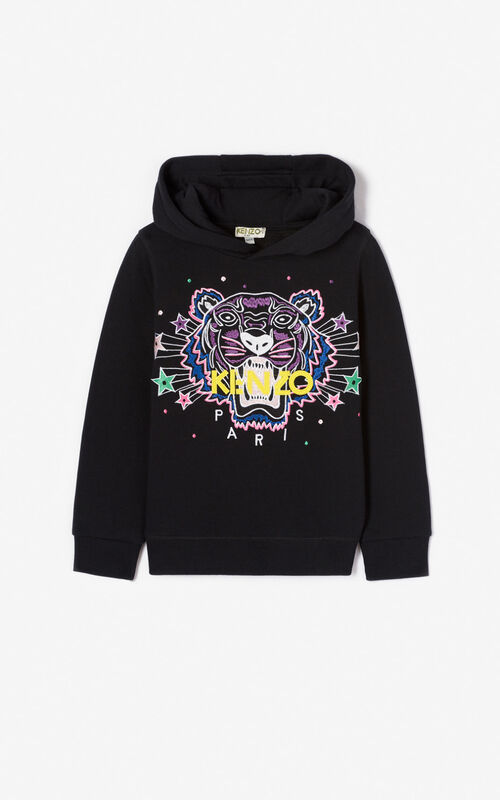 BLACK 'Super KENZO' tiger sweatshirt  for women