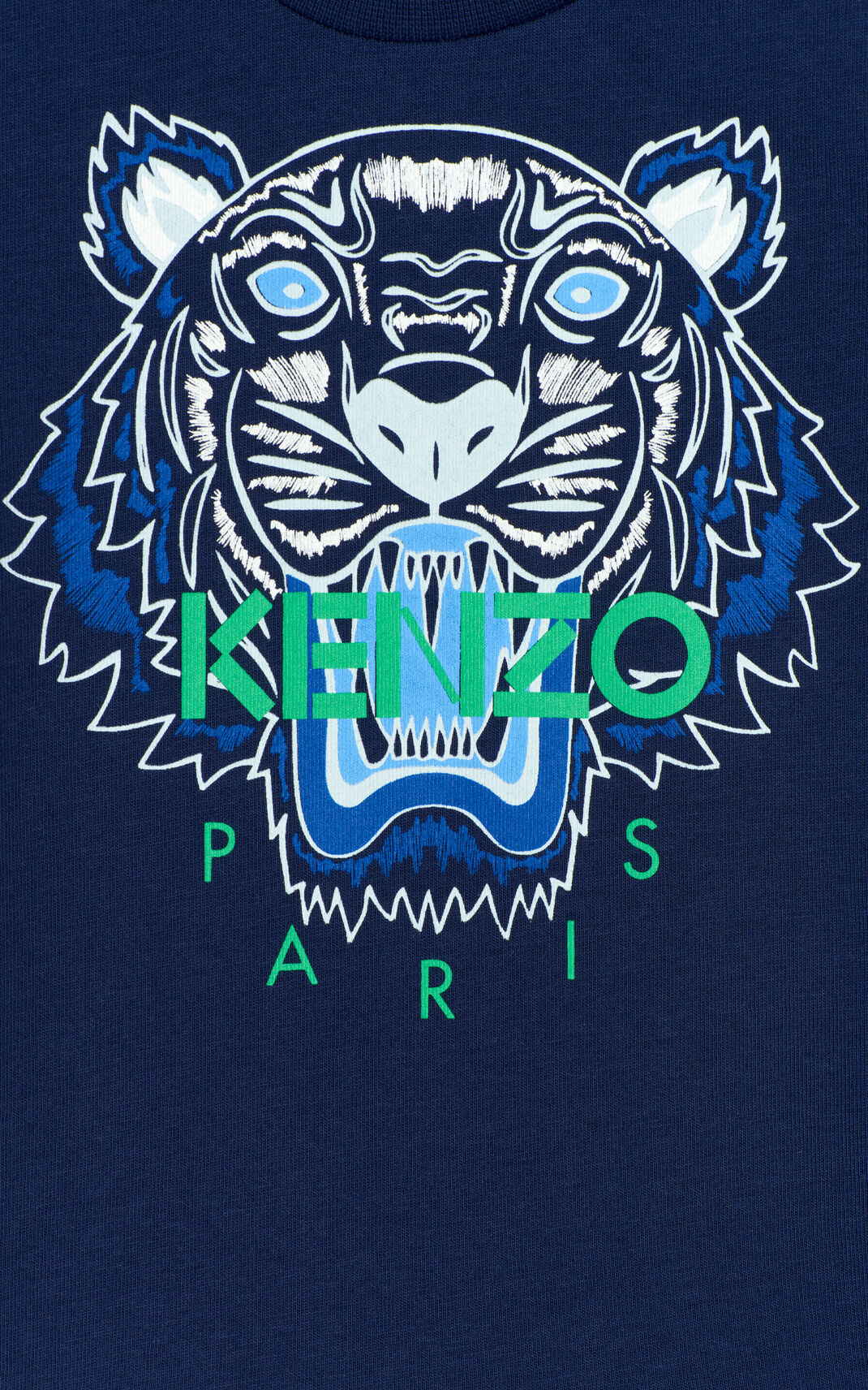 NAVY BLUE Tiger t-shirt for men KENZO