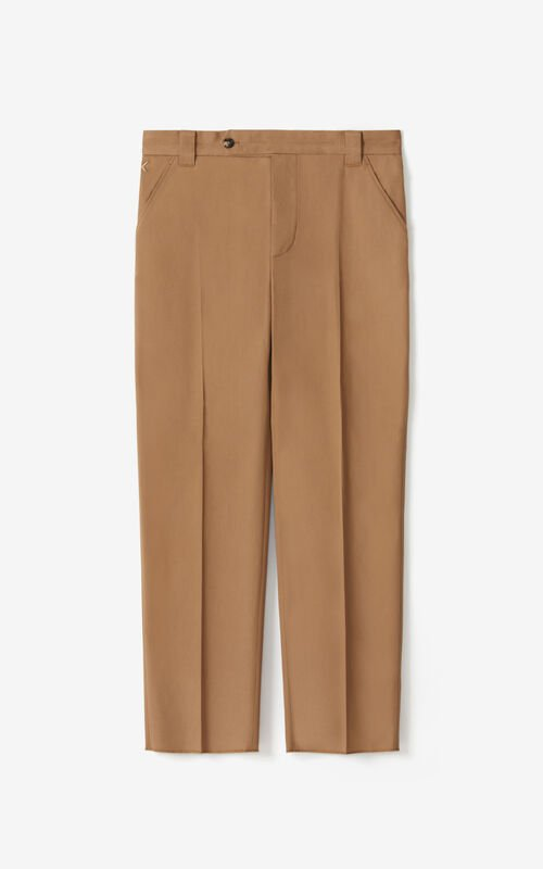 DARK BEIGE Cropped trousers for unisex KENZO