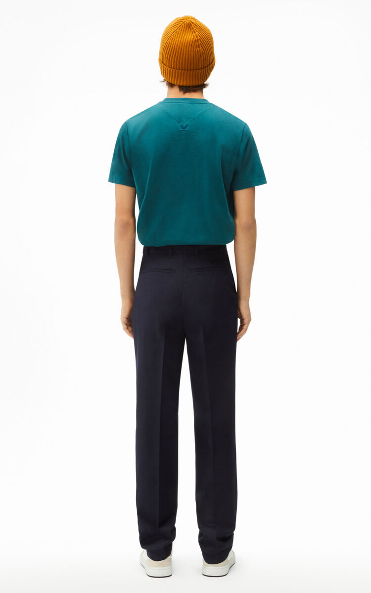BLUE BLACK Pleated trousers for men KENZO