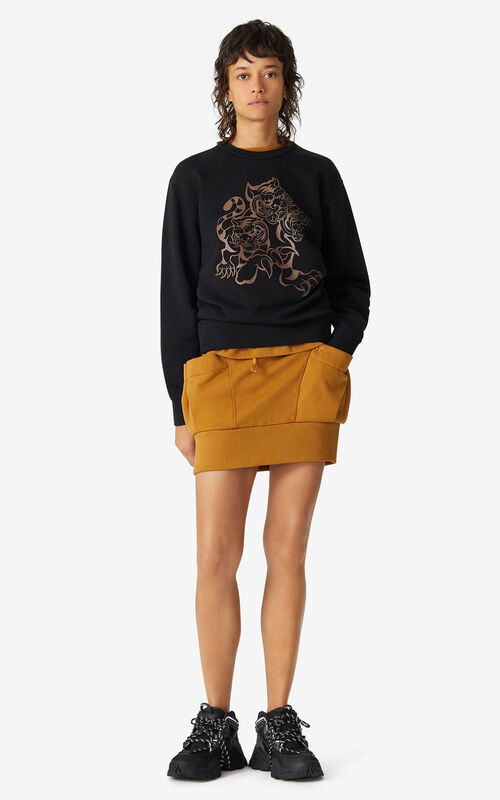 BLACK KENZO x KANSAIYAMAMOTO 'Three Tigers' sweatshirt for men
