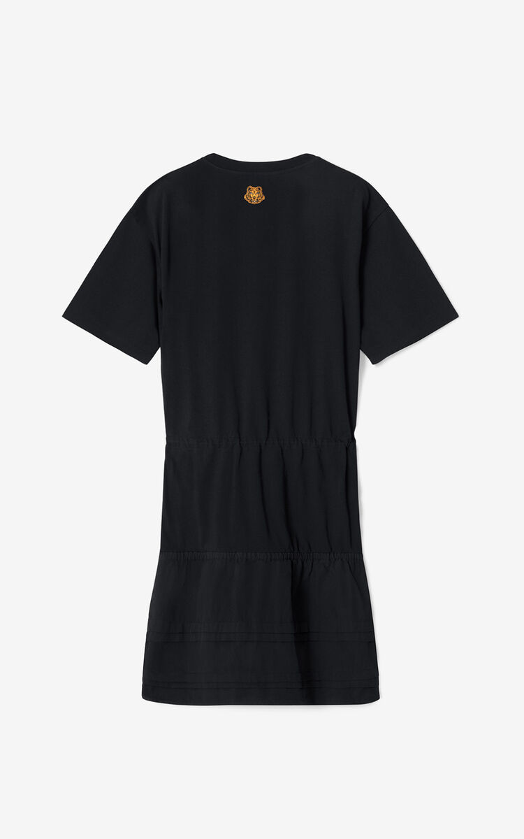 BLACK KENZO x KANSAIYAMAMOTO T-shirt dress for women