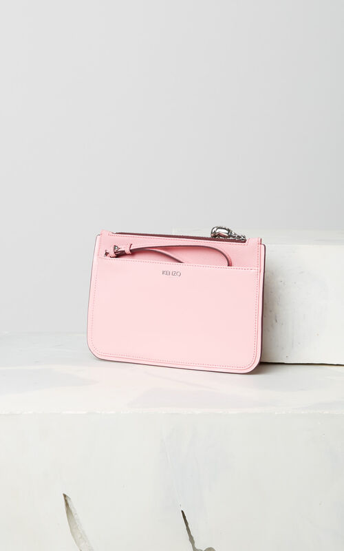 FADED PINK A5 Tiger clutch for women KENZO