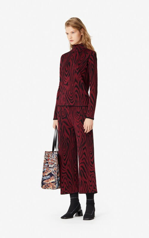 BORDEAUX 'Moire Tiger' trousers for women KENZO