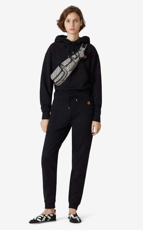 BLACK Tiger Crest joggers for women KENZO