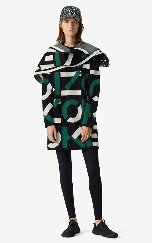 GREEN KENZO Sport jacquard monogram dress for women