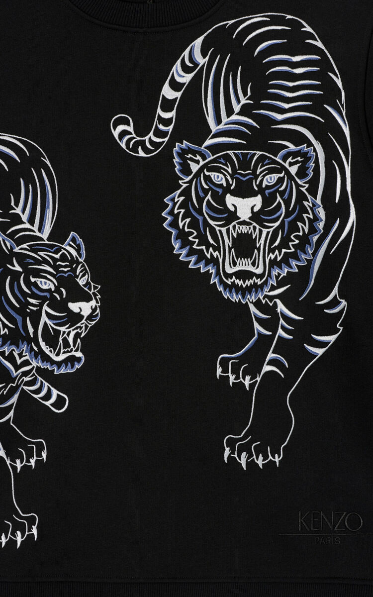 BLACK 'Double Tiger' sweatshirt for men KENZO