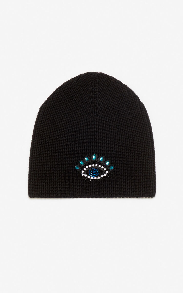 BLACK 'Holiday Capsule' Eye knit cap for unisex KENZO