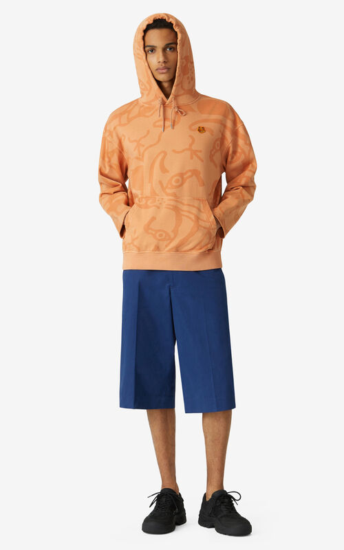 COGNAC K-Tiger oversize hooded sweatshirt    for men KENZO