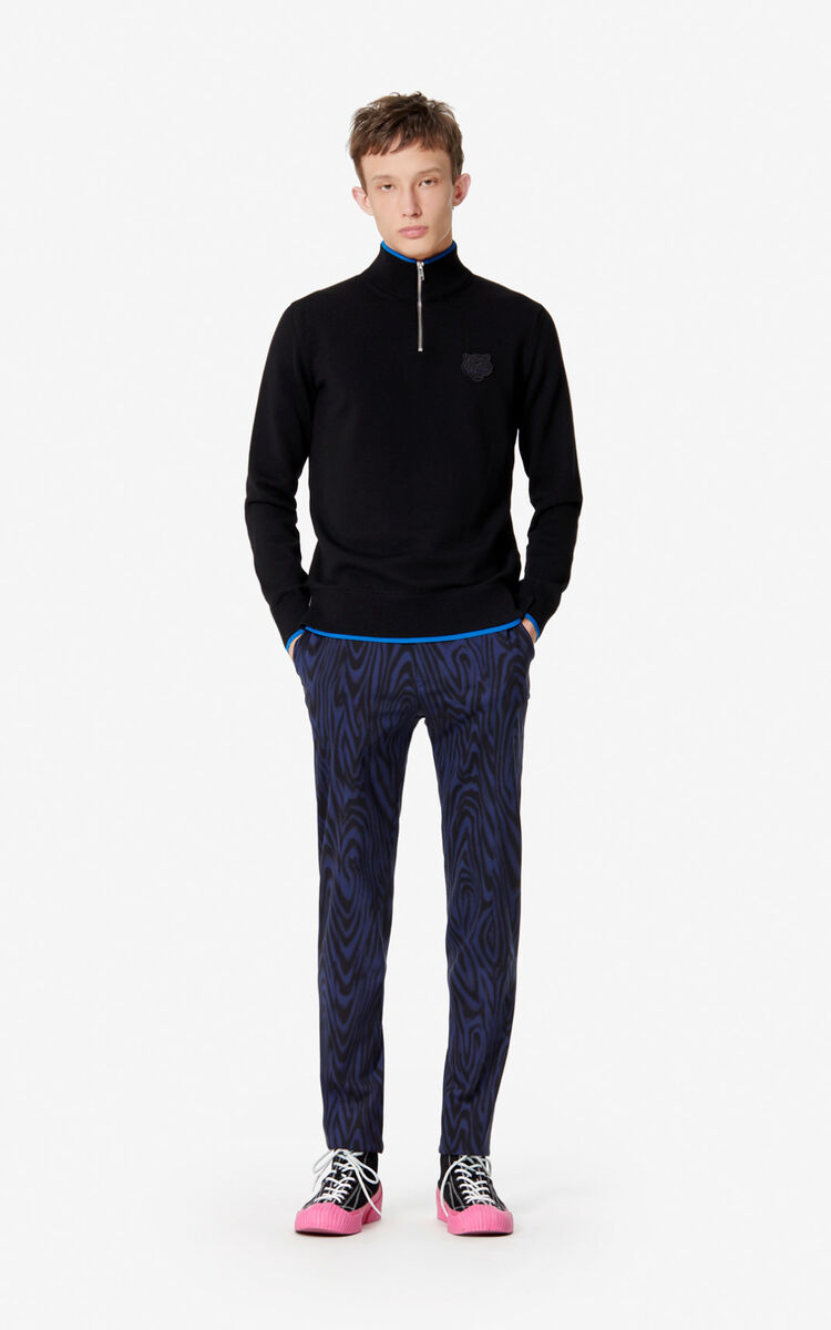 BLACK Tiger jumper for men KENZO