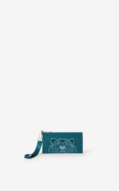DUCK BLUE Kampus Tiger canvas wallet for women KENZO