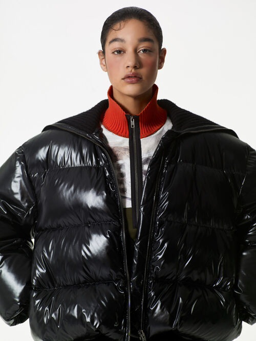 BLACK Oversized Short Down Jacket for women KENZO