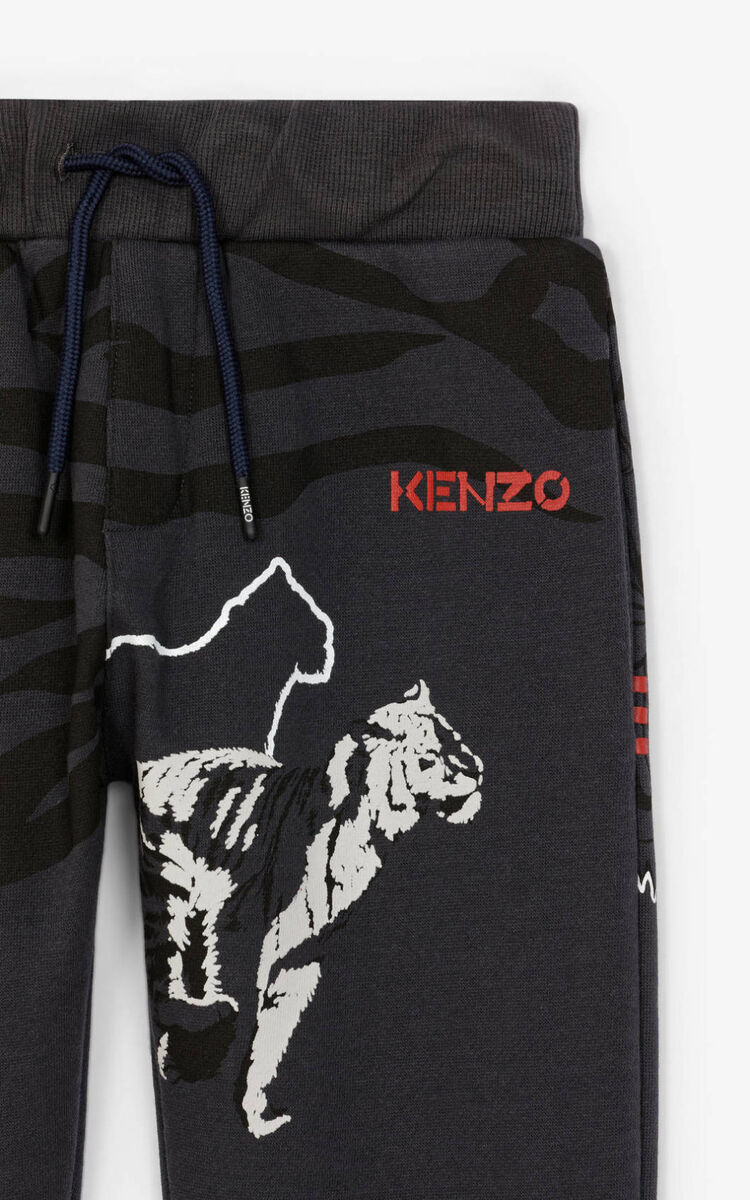 ANTHRACITE Multi icon jogging pants for unisex KENZO