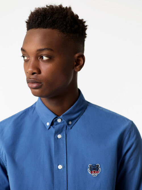 BLUE Tiger Crest Shirt for men KENZO