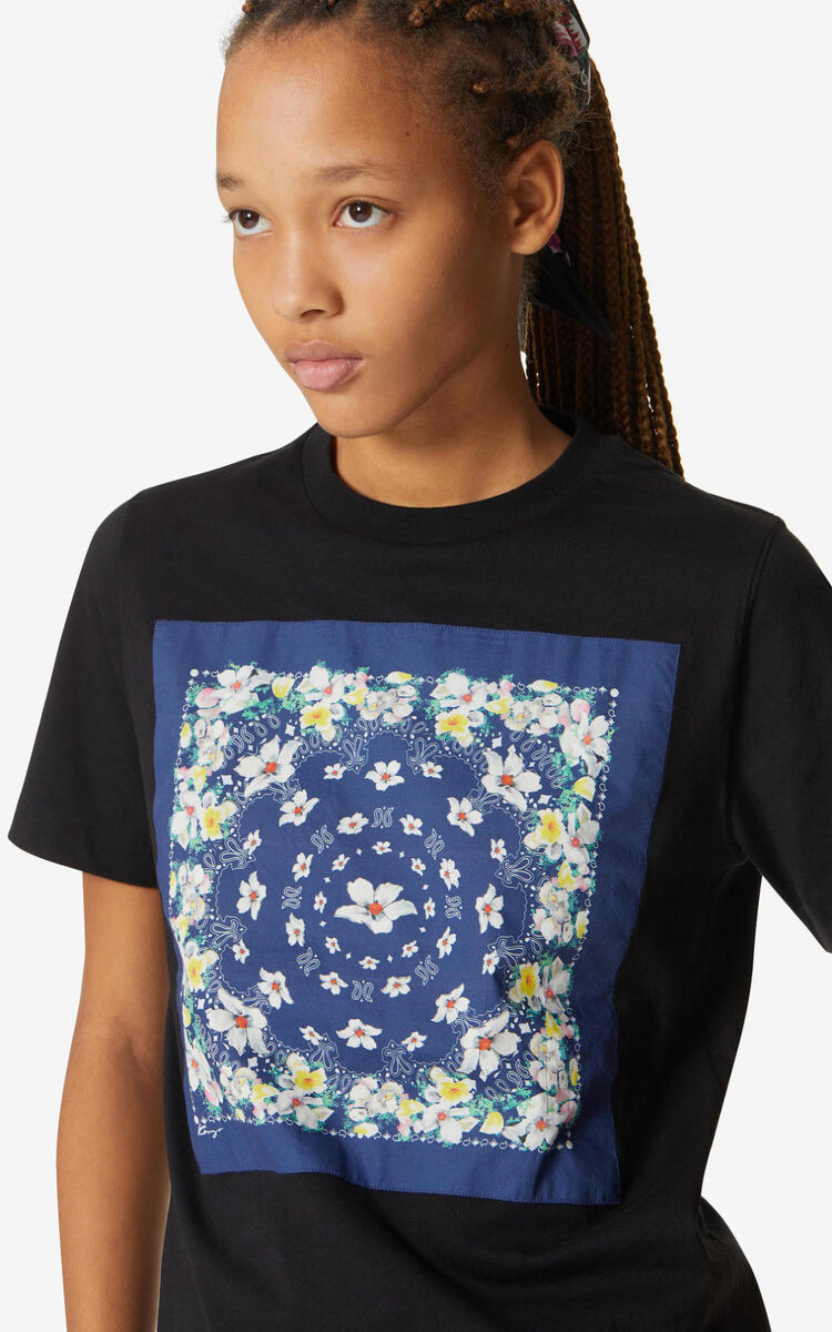 BLACK 'Bandana' t-shirt for women KENZO