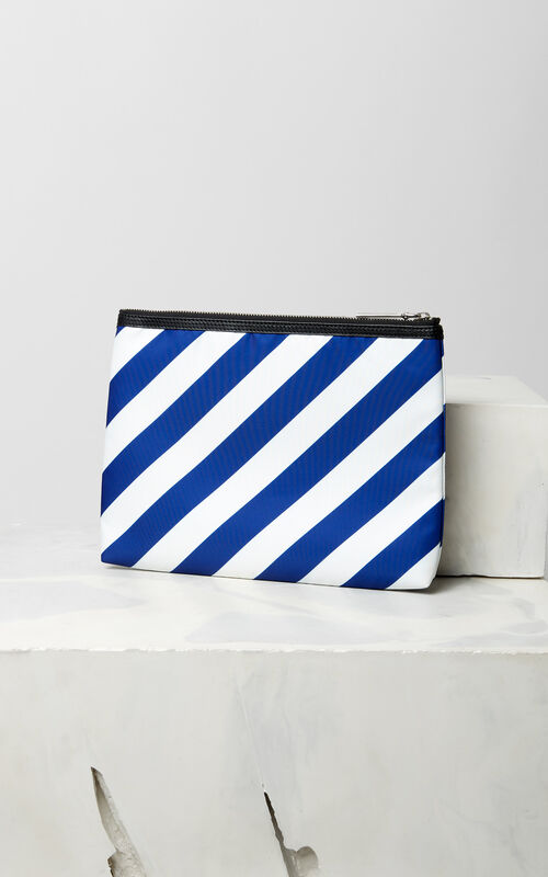 "DEEP SEA BLUE 'Hyper KENZO"" clutch for women"