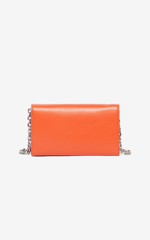DEEP ORANGE Wallet on Chain Kandy for unisex KENZO