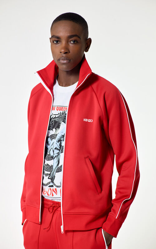 MEDIUM RED KENZO zipped jacket for men