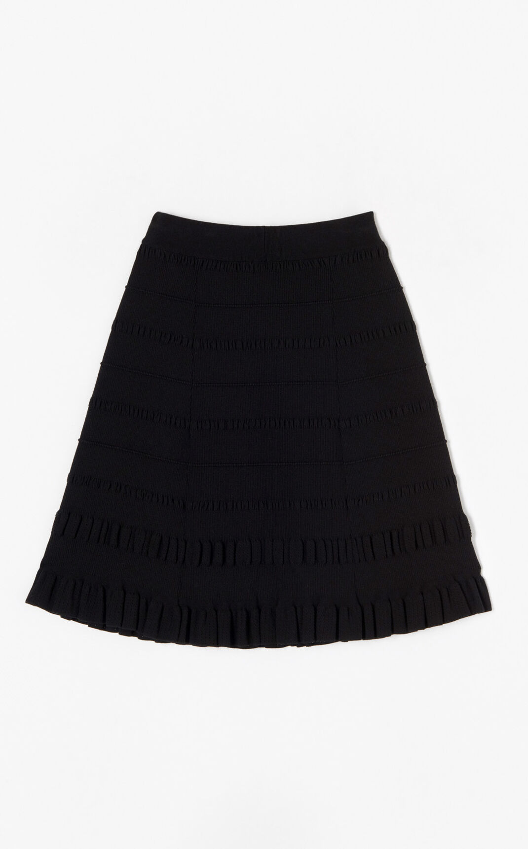 BLACK Miniflare skirt for women KENZO