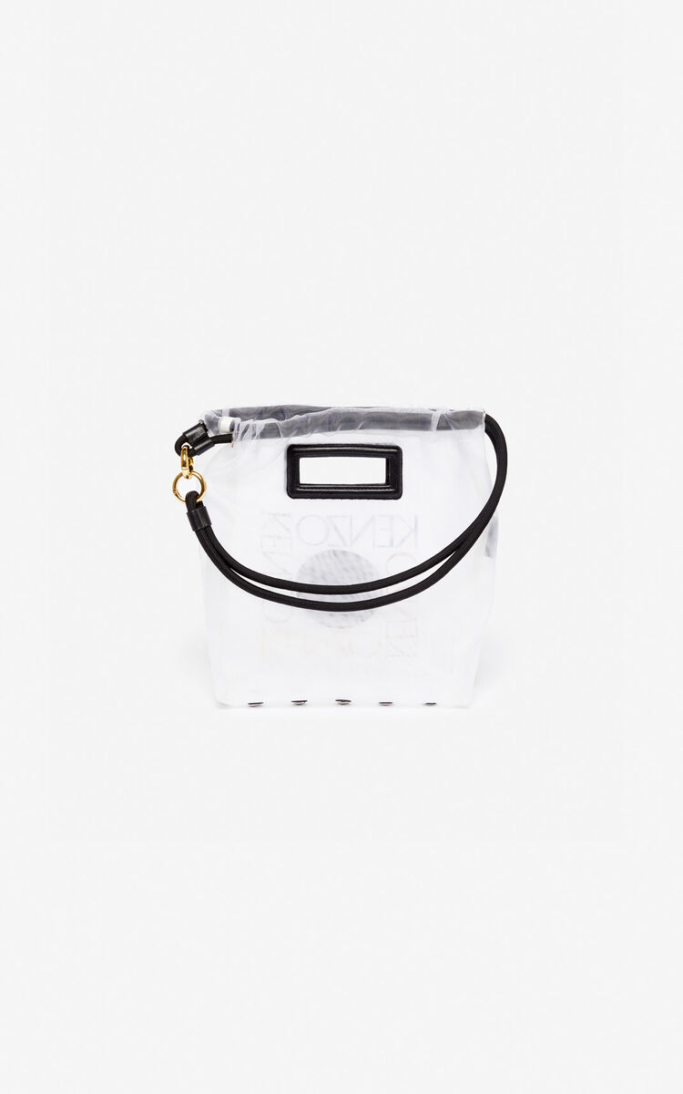 WHITE Small 'Square Logo' tote bag for women KENZO